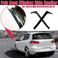 AL21 -1 пара, блестящие черные боковые Стикеры для заднего стекла для спойлера, отделка крышки для V-W Golf 6 MK6 GTI/GTR/GTD 2008 2009-2013 Canards Spli