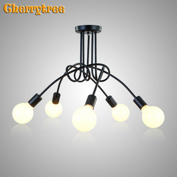 Ceiling light Industrial ceiling lamp loft decor modern living room lights BedRoom Home lamp Surface mounted light fixtures led vintage led ceiling lights rope hang lamp for home living room nordic bar lighting ceiling fixtures industrial decor luminaire
