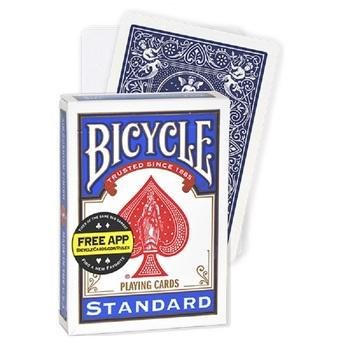 Rowerowa pusta twarz niebieskie plecy karty do gry Gaff Deck magiczne karty Poker rozmiar specjalne magiczne rekwizyty magiczne sztuczki dla maga tanie i dobre opinie Bicycle Z nami (pochodzenie) 8 lat 120 minut Nieograniczony Zaawansowane Bicycle Blank Face Blue Back Deck Reklama pokera