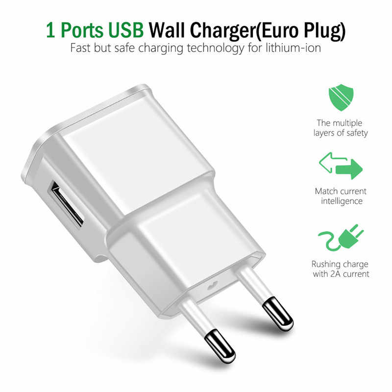 Micro USB ładowarka ścienna Adapter do Alcatel 1C 1X 3C 3V 3X3 1T 7 10 Idol 5 A7 A3 XL Plus U5 HD U50 Shine Lite 1M kabel Micro USB