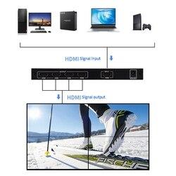 MOOL 2X2 Video Wall Controller 1 HDMI Ingang 4 HDMI Uitgang 2X1/3X1 /4X1/1X2/1X3/1X4 TV Processor Beelden Stiksels (EU Plug)