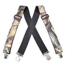 Suspenders Trousers Straps Braces-Pants Strong-Clips Elastic Belts Bretelles Heavy-Duty