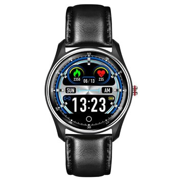 Leather Strap Smart Sports Watch Waterproof Bracelet Smart Sports Step Count Touch Watch Color Screen Smart Watch#3