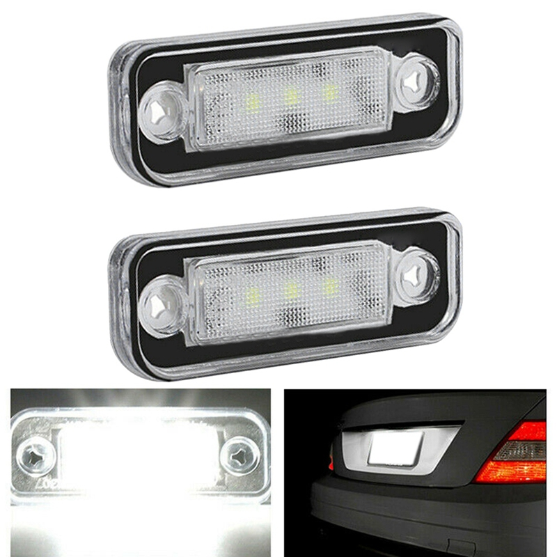 LED License Plate Light Lamp Error Free for Benz Mercedes W203 5D W211 <font><b>R171</b></font> W219 image