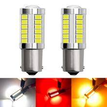 2 uds 1156, 1157 de 7443 T20 LED del coche de convertir la luz 33 5630 SMD 5730 Auto luz trasera de frenos bombilla inversa señal lámpara 12V DRL luces