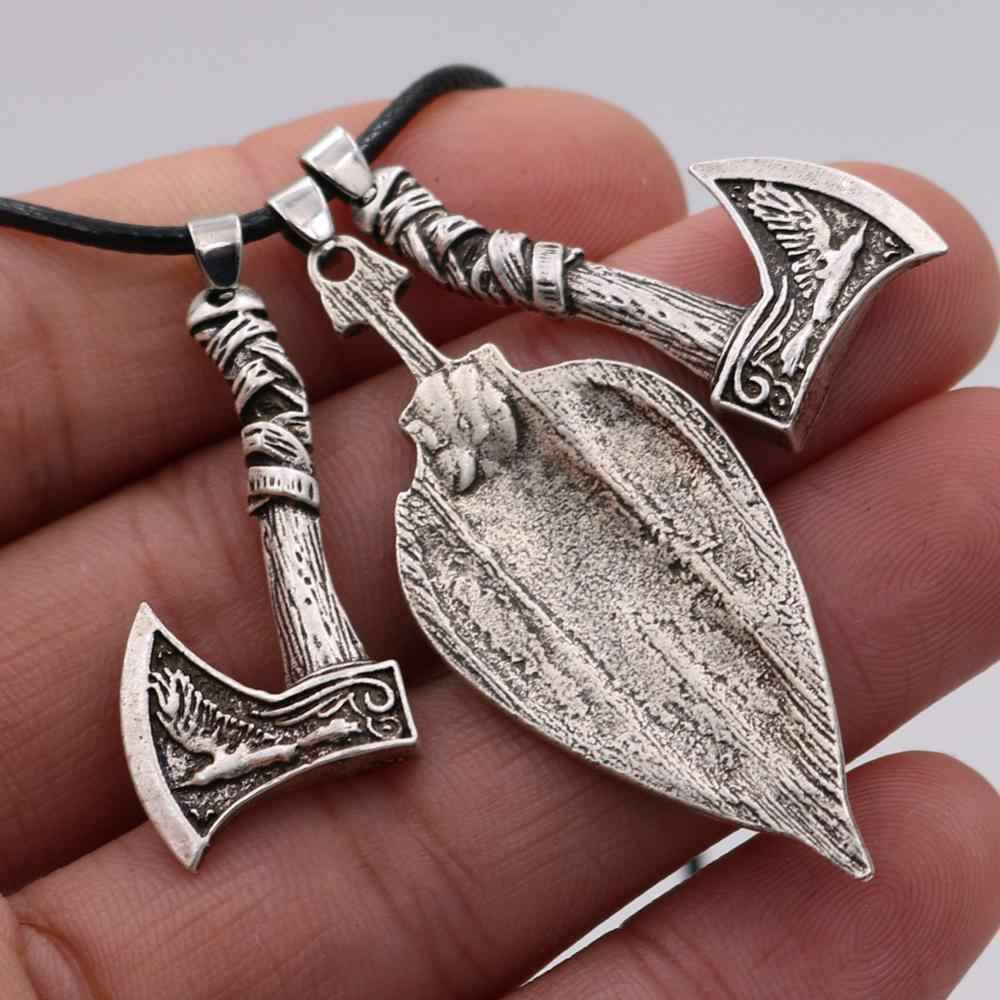 Viking Thanh Kiếm Lá Chắn Odin Raven Sói Axe Bùa Hộ Mệnh Người Slav Kolovrat Biểu Tượng Vĩ Làm Chân Vòng Cổ Nam
