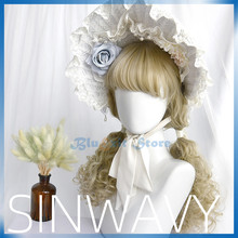 3 Colors Lolita Wig Harajuku Sakura Sweet Long Curly Synthetic Hair Fringe Bangs Adult Girls Pink Hair(China)