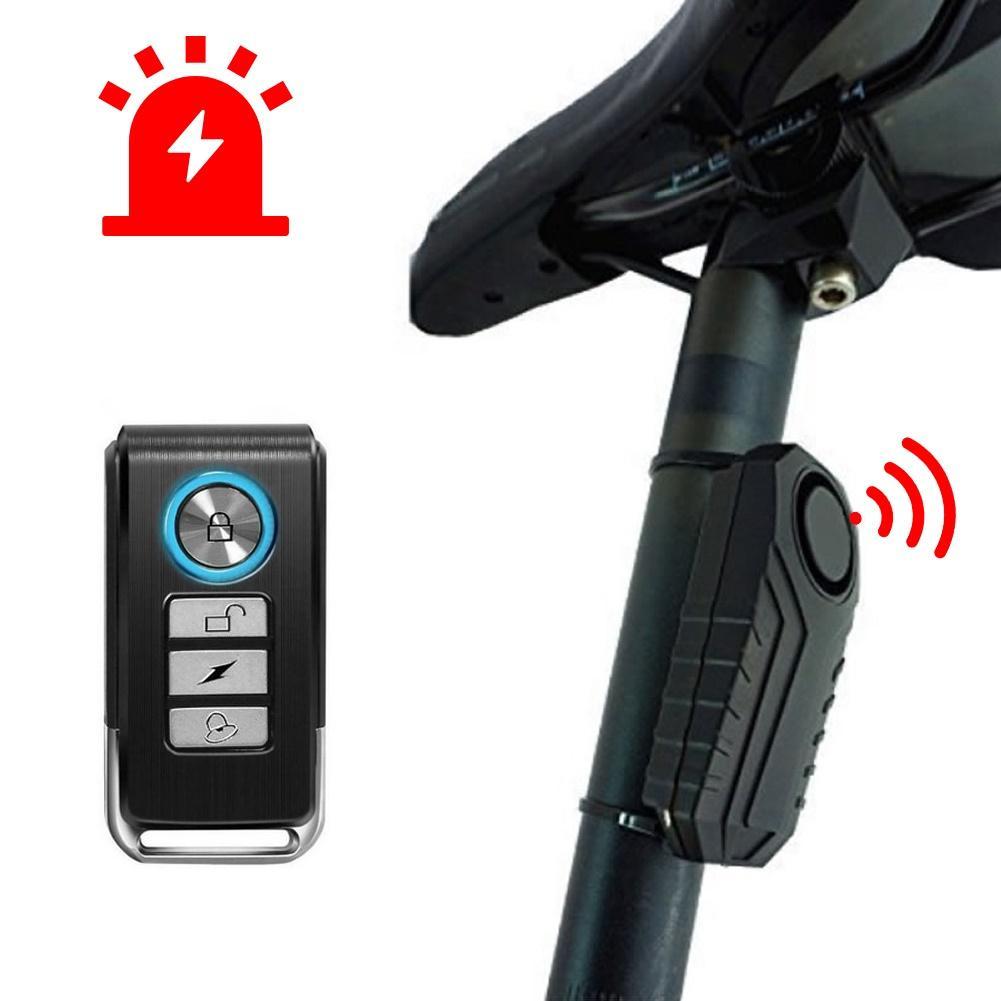 Remote Control Electric Bike Security Anti-theft Vibration Sensor Warning Alarm