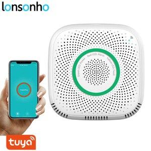 Image 1 - Lonsonho Tuya Wifi Intelligente Sensore di Gas Rilevatore di Perdite Smart Home, Casa Intelligente di Sicurezza di Allarme Vocale di Vita Intelligente App di Controllo A Distanza Senza Fili