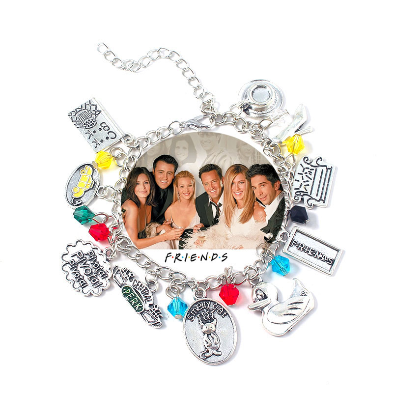 Fashion TV Show Friends Central Perk Coffee Time Bracelet Animal Duck Cat Sofa Charms Pendants Bracelets Female Girls Jewelry image