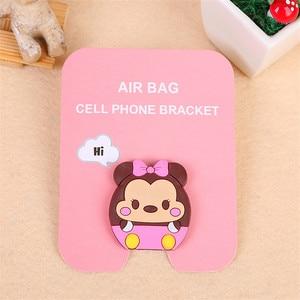 Image 2 - phone holder finger cute cartoon bracket for all mobile phones Universal mobile phone bracket airbag extension bracket and grif