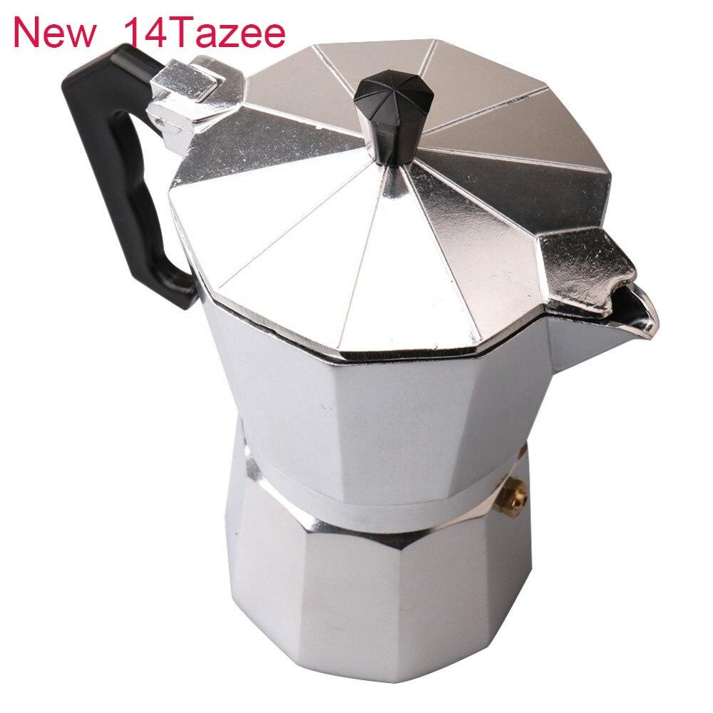 Moka Stovetop Coffee Maker Aluminum Pot French Mocha Espresso Percolator Manual 1cup/3cup/6cup/9cup/12cup