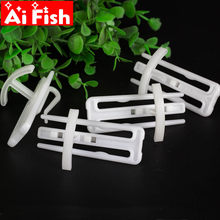 New Generation of Curtain Stereo Stereotype Hooks Curtain White Nano Plastic Four-claw Hook Tape Hook Rail Accessories cp134#40(China)