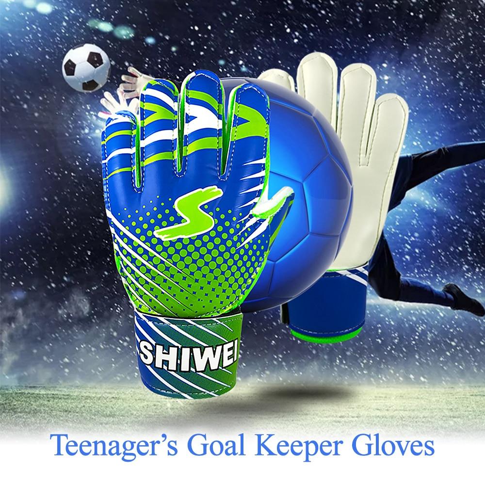 Teenager's Football Gloves Latex Goalie Gloves Breathable Soccer Gloves Finger Protection Kids Goalie Gloves Goalkeeper