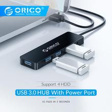 ORICO High Speed 4 Ports USB3.0 Hub USB Port USB Micro Port HUB Charging Hub USB Splitter for Apple Macbook Air Laptop PC Tablet