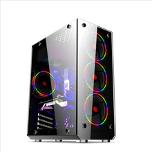 ATX/M-ATX/ITX Desktop Computer case DIY Transparent Glass Gaming Computer PC Case Gamer Cooling Mid Tower Chassi 350*180*440mm