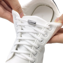 Shoelaces Round Sneakers No-Tie Elastic Quick-Lazy Kids 15-Color 1pair for And Adult