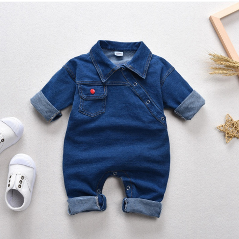 Newborn Rompers Baby Boys Girls Clothes Spring Baby Rompers Girls Romper Infant Denim Jumpsuit For Kids Baby Clothes