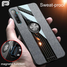 For Realme X2 Pro Case Fabric Cloth Finger Ring Holder Soft Silicone B