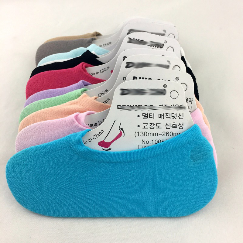 10 Pieces = 5 Pairs Ultra-thin Candy-colored Socks Invisible Children's Parent-child Sock Slippers Casual 2020 Sprig Autumn