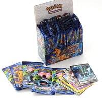 Caja de cartas de Pokemon para niños, juguete de juego de Pokemon de cartas en francés e inglés, brillante, con sol, luna, evoluciones, 324 Uds.