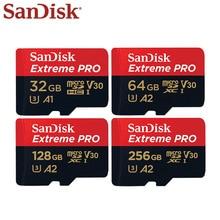 بطاقة ذاكرة سانديسك اكستريم برو مايكرو اس دي 256GB 128GB 64GB U3 V30 TF بطاقة تصل إلى 170 برميل/الثانية بطاقة فلاش 32GB للكاميرا بدون طيار
