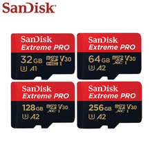 Scheda di memoria SanDisk Extreme Pro Micro SD Card 256GB 128GB 64GB U3 V30 TF Card fino a 170 MB/s scheda Flash 32GB per Drone fotocamera