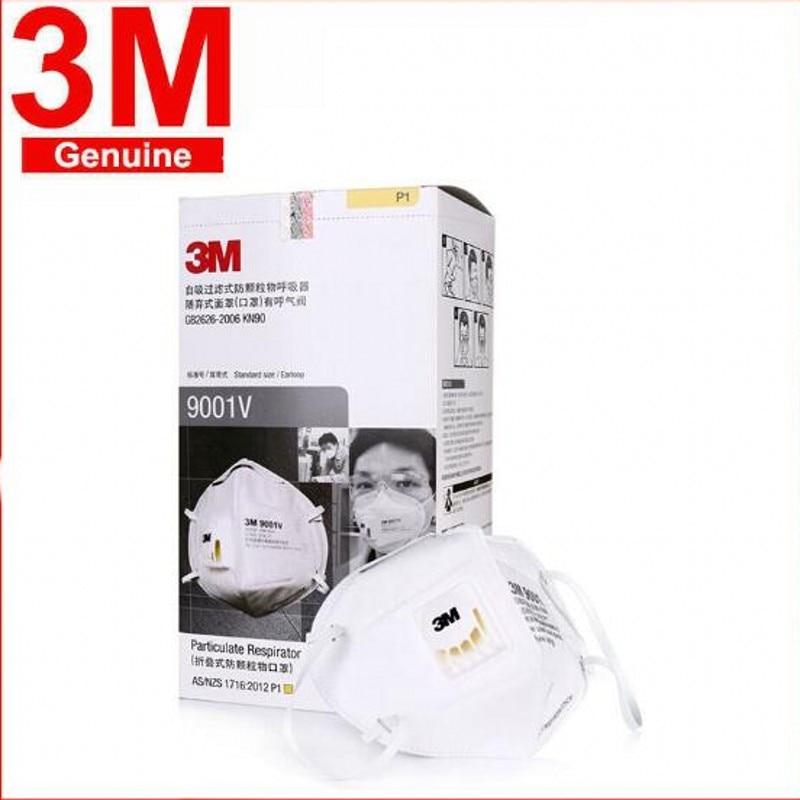 50 Pieces Masks 3M 9001V Masks Mascaras Cubrebocas 3M KN95 Ffp2 Covid 19 Tapabocas Mascherine Respirator Mask With Filtration