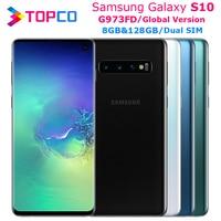 Samsung Galaxy S10 G973FD versión Global Dual SIM desbloqueado teléfono móvil Exynos 9820 Octa Core 6,1