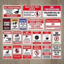 Не знак запрещения проникновения предупреждающий металлический