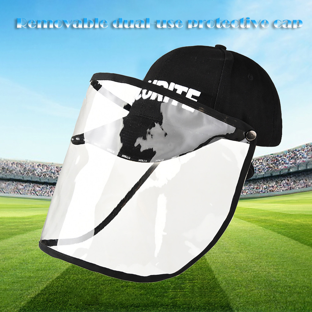 High Quality Anti-spitting Protective Hat Cover Outdoor Fisherman Hat Baseball Cap Adjustable Size Accessories#g3