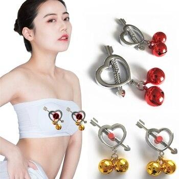 Piercing falso de Metal para mujer, pinzas para pezones de Metal, accesorios...
