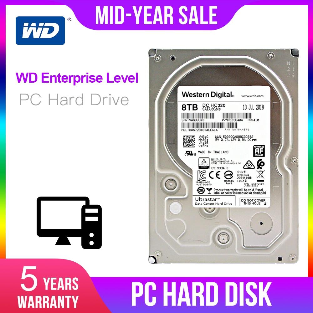 """Western Digital 8TB 6TB 4TB 2TB 1TB Ultrastar DC HC320 SATA HDD - 7200 RPM Class SATA 6Gb/s 256MB Cache 3.5"""" HUS728T8TALE6L4"""