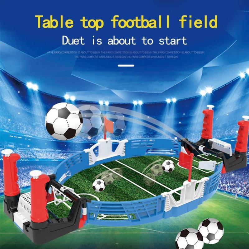 Mini Table Top Football Board Match Game Kit Indoor Tabletop Soccer Toys Outdoor Portable Table Games Football Toys