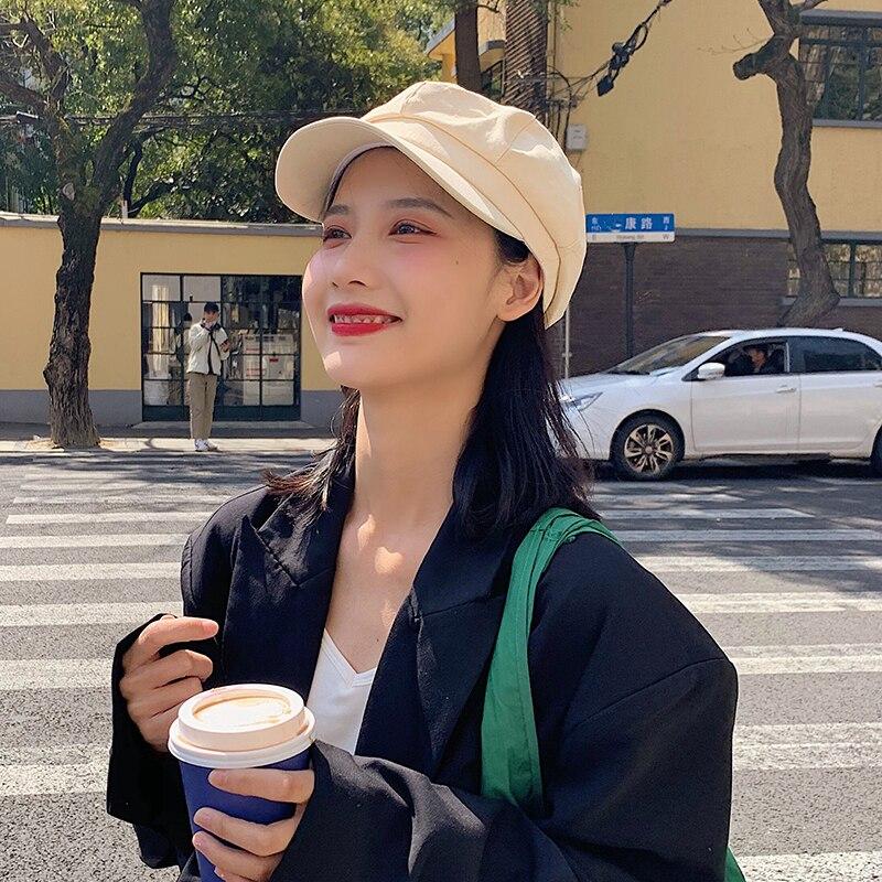 Восьмиугольная кепка женская летняя корейская модная универсальная красная Кепка художника сетчатый берет в японском стиле тонкая Ретро П...