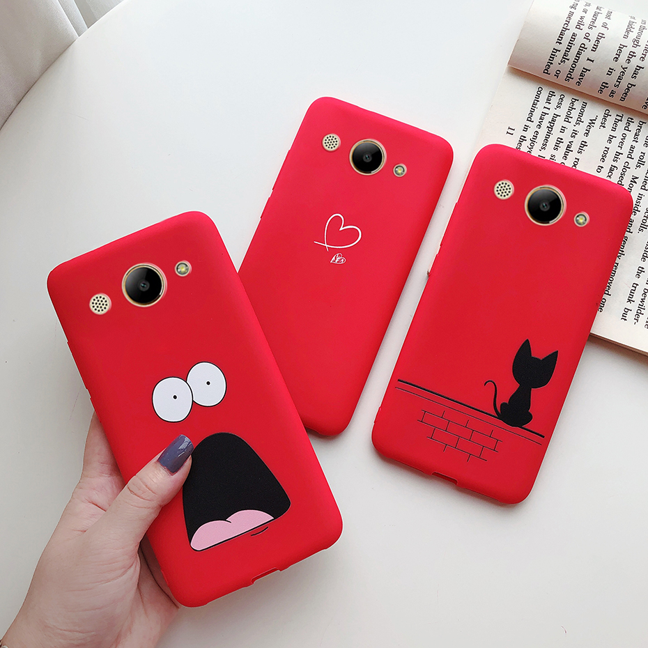 For Huawei Y3 2017 Case For huawei Y3 2018 Case Candy Color Soft Silicone Back Cover For Huawei Y3 CRO-L22 CRO-U00 Phone Case