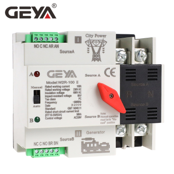 interruptores selectores eléctricos ATS 2P 25A 40A 63A 100A,  W2R Mini ATS 2P Interruptor de Transferencia Automática, interruptor de alimentación doble, Envío Gratis-GEYA 2