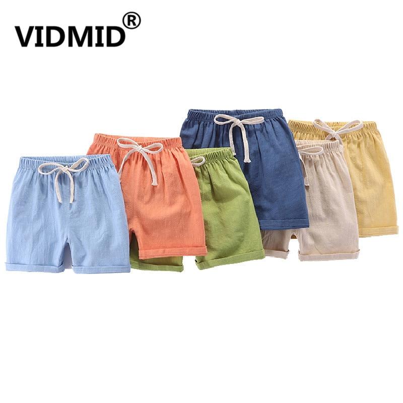 VIDMID boys girls cotton candu color shorts kids children cartoon colorful trousers clothes boys shorts girls trousers 4146 02 1