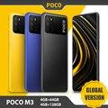 Смартфон глобальная версия POCO M3, 4 ГБ, 64 ГБ/128 ГБ, Восьмиядерный процессор Snapdragon 662, тройная камера 48 МП, экран 6,53 дюйма FHD +, Аккумулятор 6000 мАч