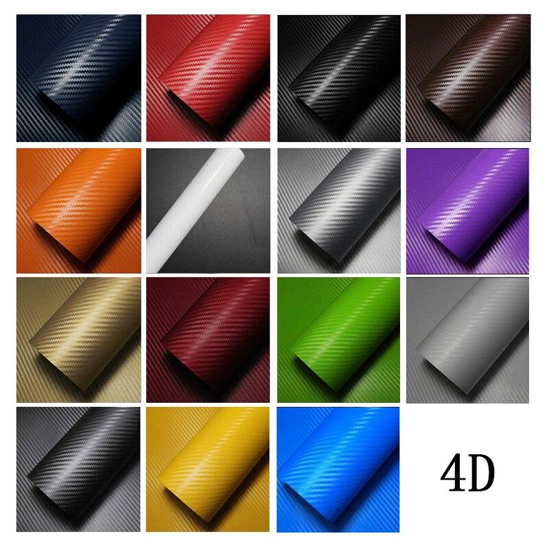 3D 4D Carbon Faser Vinyl Auto Wrap Blatt Rolle Film Auto aufkleber und Abziehbilder Wasserdicht Auto Motorrad Aufkleber Auto Styling DIY modell