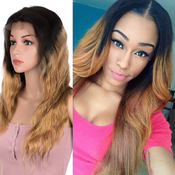Remy Forte Lace Front Human Hair Wigs 13x4 Lace Body Wave Human Hair 30 Inch Ombre Pre Plucked With Baby Hair 150% Density Wigs