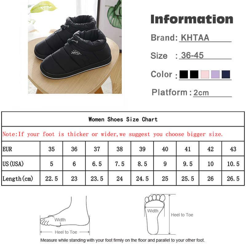 Yeni kadın kış kar botları peluş sıcak elastik bant platformu yarım çizmeler kadın ayakkabı rahat ev pamuklu ayakkabılar kadın artı boyutu