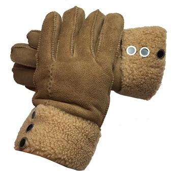 Guantes para mujer, nuevos de abrigo de invierno, guantes de piel auténtica de lana de oveja, guantes de piel auténtica de oveja sólida, mitones elegantes, cálidos guantes de mujer G29