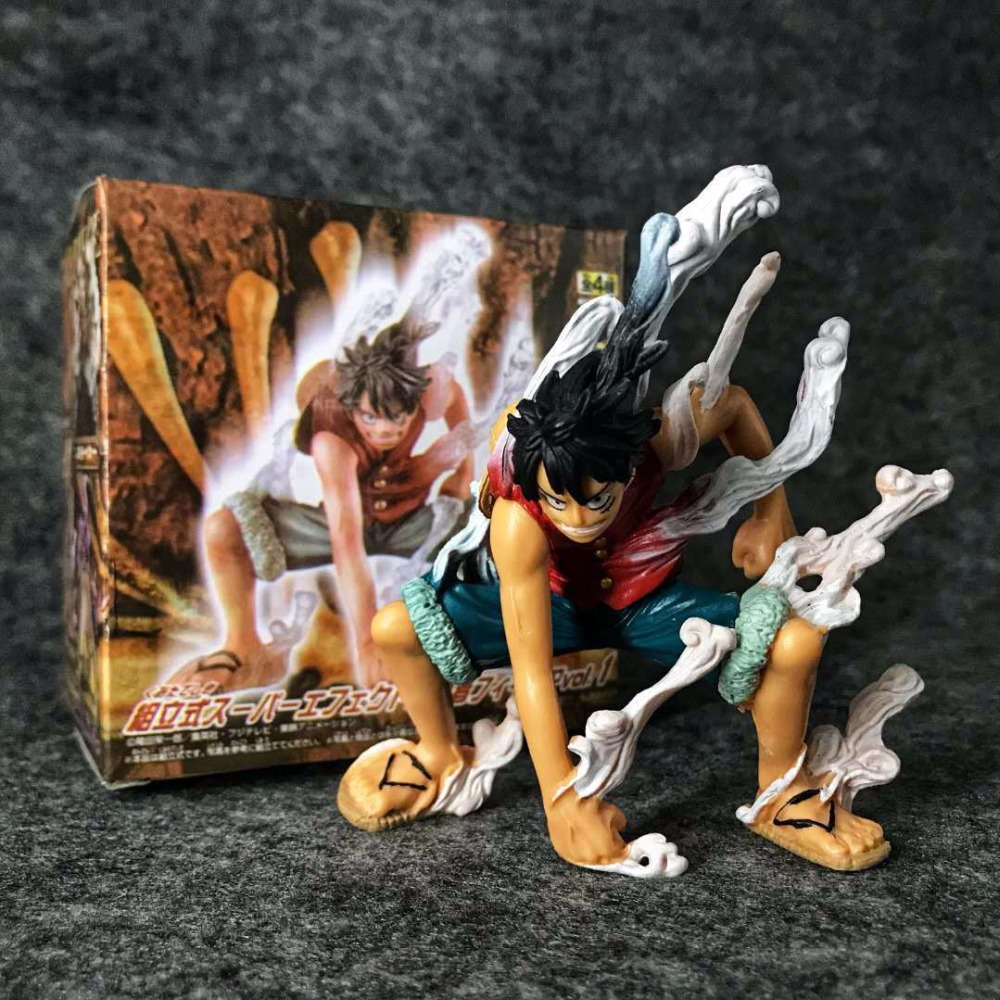 Anime OP Monkey D Luffy Second Gear First Outbreak PVC Action Figure One Piece Luffy Vaporization Model Toys Collectible 10cm image