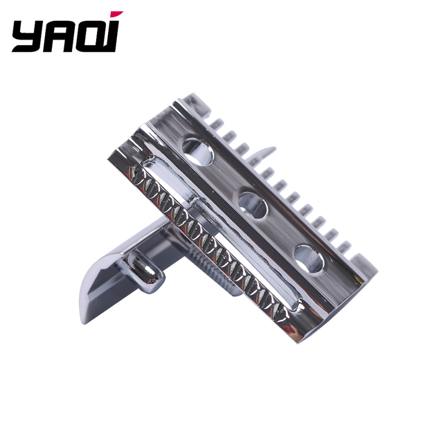 """""""The """"FLIPSIDE by Yaqi"""" A Dual Comb Dual Aggression Level Razor Head In Chrome 1"""
