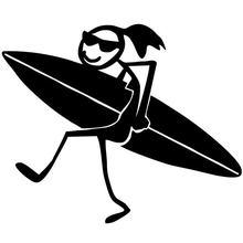 Интересный автомобильный стикер для серфинга девочек виниловые