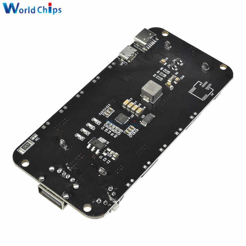 المزدوج 18650 بطارية ليثيوم درع V8 V3 5 فولت 3A المصغّر USB Type-A USB بطارية خزان الطاقة شحن ل Raspberry Pi ESP8266 ESP32