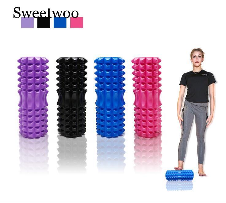 high quality Yoga column foam Pilates Fitness Foam Roller sports Train Gym Massage Exercise relax rolls