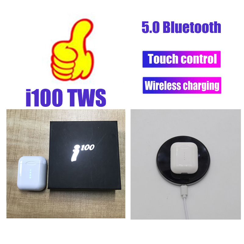 I100 TWS 1:1 мини беспроводные bluetooth наушники 5D Super Bass гарнитура handsfree Наушники pk i20 i60 i80 i90 TWS для iphone Android image