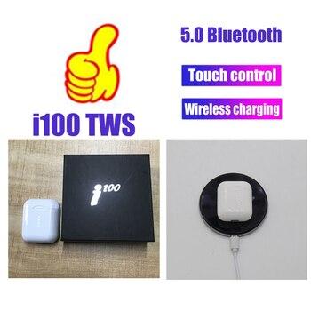 i100 TWS 1:1 mini Wireless bluetooth Earphone 5D Super Bass headset handsfree Earbuds pk i20 i60 i80 i90 TWS for iphone Android